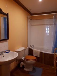 A bathroom at Hallgreen castle