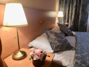 Кровать или кровати в номере Отель Звездный