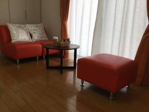 A seating area at La Curación