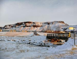 Adventure Hotel Geirland during the winter