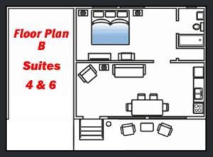 The floor plan of Quillayute River Resort