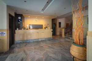 De lobby of receptie bij Dimitris Paritsa Hotel