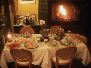 Restaurant ou autre lieu de restauration dans l'établissement Auberge Mountain View Inn