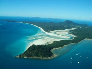 A bird's-eye view of Whitsunday on The Beach
