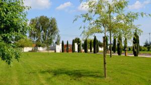A garden outside Le Coteau de Bazeille Spa & Sauna