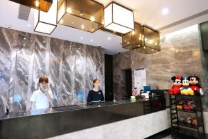 The lobby or reception area at Maixinge Boutique Hotel Chuansha Branch