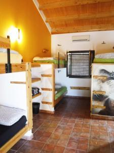 A bunk bed or bunk beds in a room at Tantaka - Albergue Los Meleses