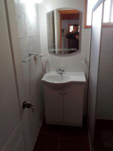 A bathroom at Cabañas Prado Verde