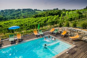A view of the pool at Agriturismo Cascina Ponchietta or nearby