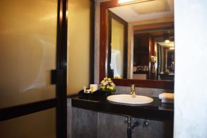 A bathroom at Thilanka Hotel