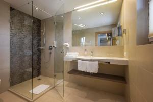 Koupelna v ubytování Hotel Gabi