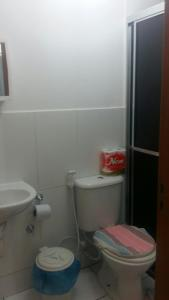 A bathroom at Apartamento Chapada Diamantina