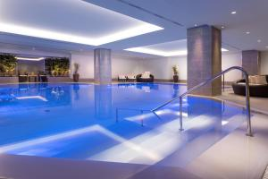 The swimming pool at or near Hilton Prague Hotel