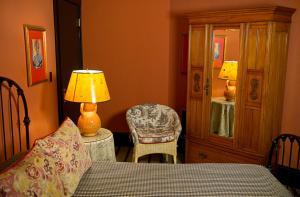 A seating area at Hotel Boheme