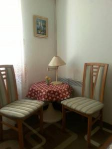 A seating area at Family House Lise