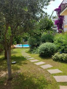 A garden outside Villa Pineland