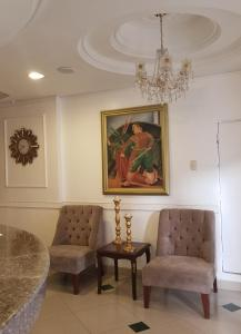 A seating area at Hotel Presidente Internacional