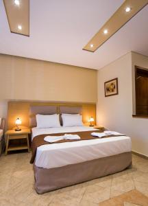 Кровать или кровати в номере Villa Katerina