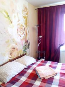 Кровать или кровати в номере Апартаменты Рязанский Проспект/Выхино