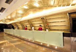 The lobby or reception area at Howard Johnson Ginwa Plaza Hotel