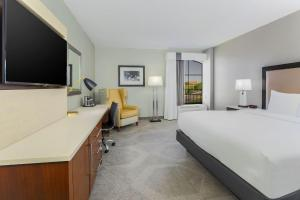 A television and/or entertainment center at DoubleTree by Hilton Austin-University Area
