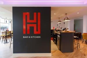 A restaurant or other place to eat at Harben House