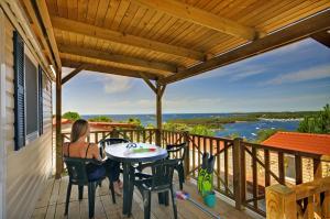 A balcony or terrace at Orsera Camping Resort by Valamar