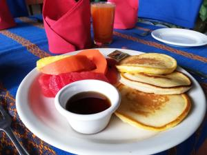 Breakfast options available to guests at La Posada de Suchitlan