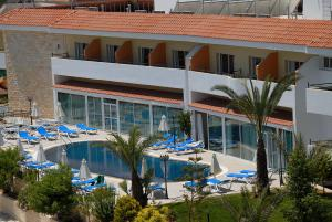 A view of the pool at M. Moniatis Hotel or nearby