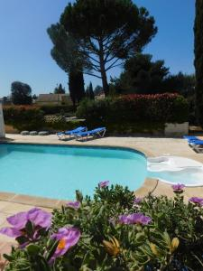 The swimming pool at or near Les Bougainvillees