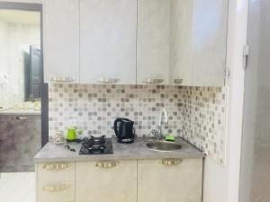 Een keuken of kitchenette bij Diasamidzeebi apartment