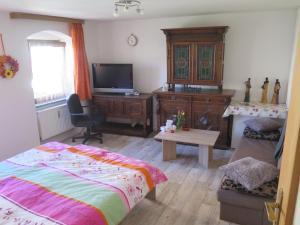 Ein Bett oder Betten in einem Zimmer der Unterkunft bb-Ferienhaus