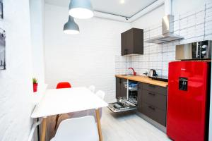A kitchen or kitchenette at Guest House Petershtadt