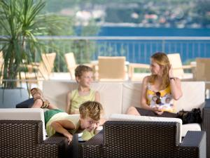 A family staying at Valamar Club Dubrovnik