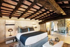 Cama o camas de una habitación en Mas Tapiolas