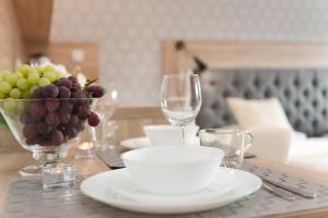 Restauracja lub miejsce do jedzenia w obiekcie Apartamenty Stary Port