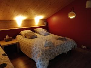 Postel nebo postele na pokoji v ubytování Chambre Chaleureuse chez l'habitant
