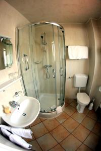 A bathroom at Hotel Schmid