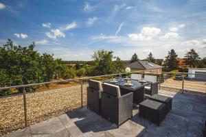 Ein Balkon oder eine Terrasse in der Unterkunft Ferienwohnung im Bockrieß