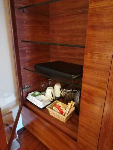 Coffee and tea-making facilities at Hotel Metropolitan Akita