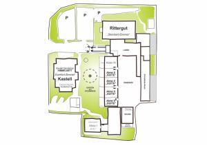 The floor plan of BinzHotel Landhaus Waechter