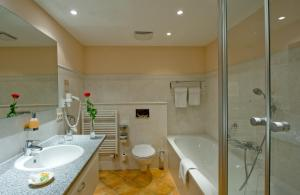 A bathroom at Hotel Habichtstein