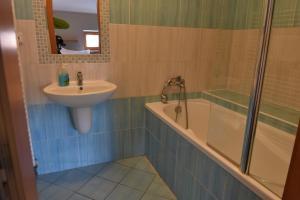 A bathroom at Pension U Jakuba