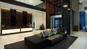 The lobby or reception area at AC Hotel by Marriott Montreal Downtown