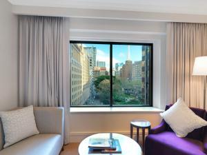 A seating area at Amora Hotel Jamison Sydney