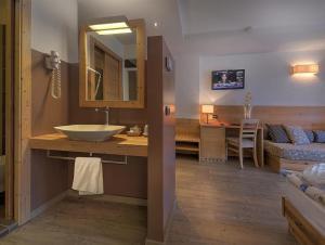 A bathroom at Hotel Negritella