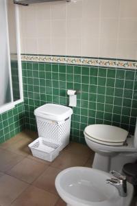 A bathroom at City House