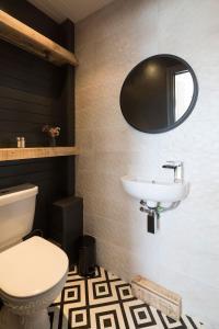 A bathroom at One Broad Street