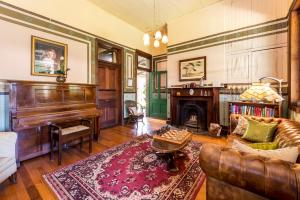 A seating area at Vacy Hall Toowoomba's Grand Boutique Hotel Since 1873