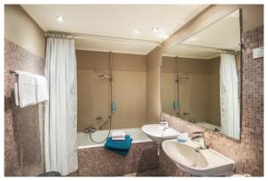 Een badkamer bij Hotel Ter Streep